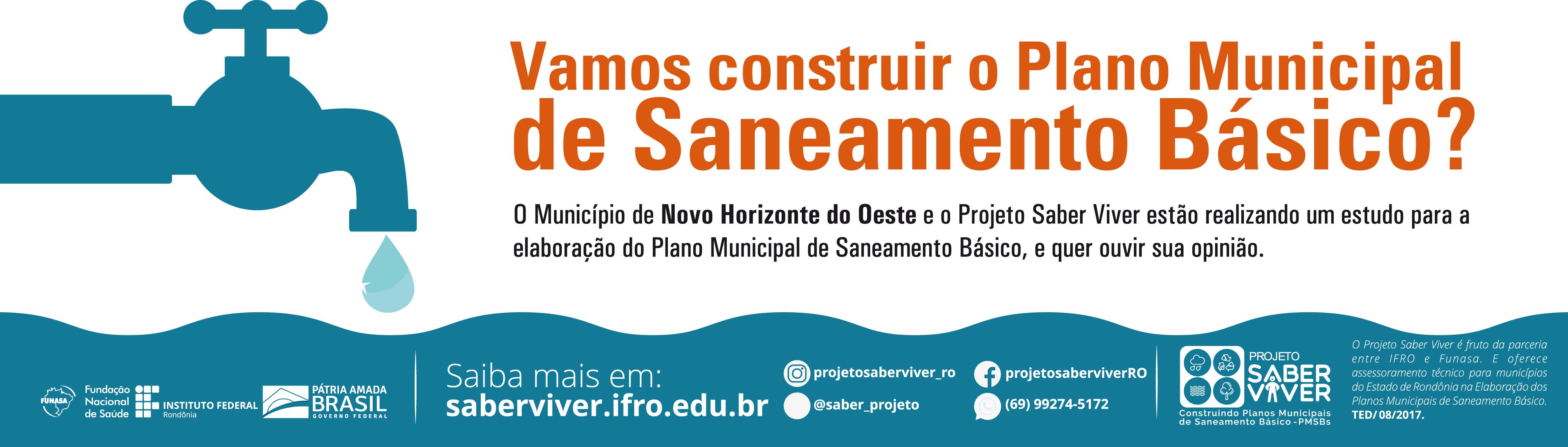 ELABORAÇÃO DO PLANO MUNICIPAL DE SANEAMENTO BÁSICO DO MUNICÍPIO DE NOVO HORIZONTE DO OESTE/RO