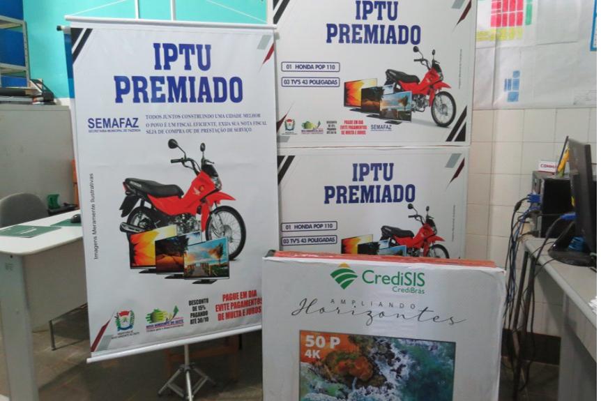 CONVITE PARA SORTEIO DA PREMIAÇÃO DA CAMPANHA IPTU PREMIADO 2020 DE NOVO HORIZONTE DO OESTE